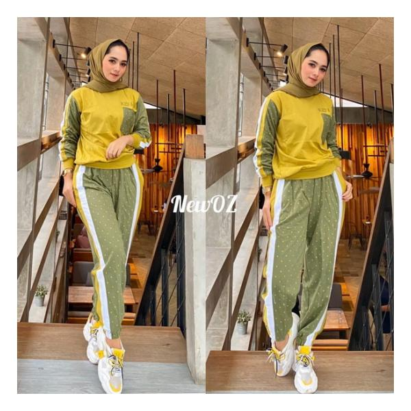 STELAN KASUAL KAOS BABYTERRY IMPORT CELANA MUSLIMAH NEW OZ